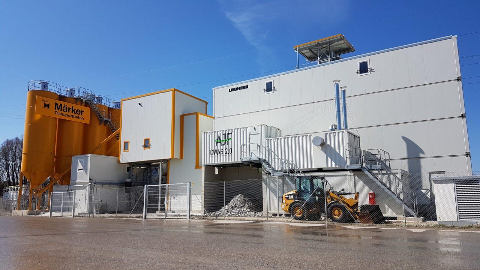 Zement-Wasser-Aufbereitungs-System CWAS 2.0 in Betrieb