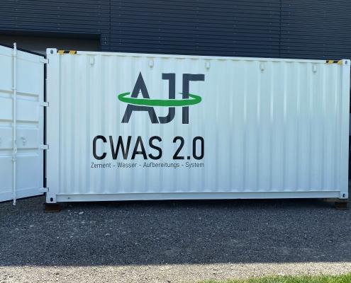 AJF mobile Zementwasser Aufberweitungsanlage CWAS