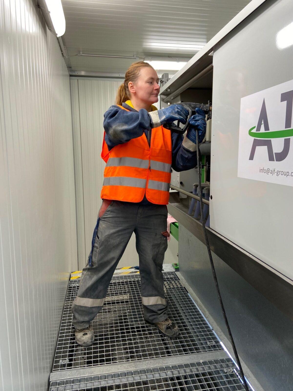 Installation AJF plant CWAS Schwenk